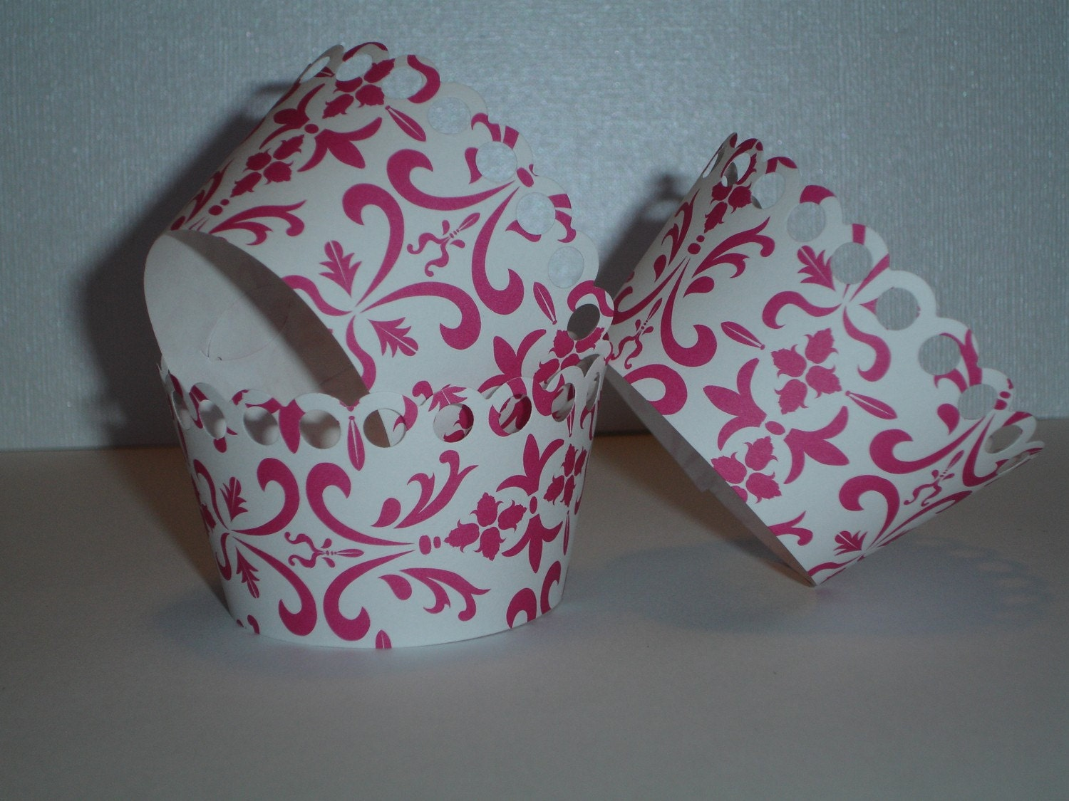 HOT Pink Damask Wraps
