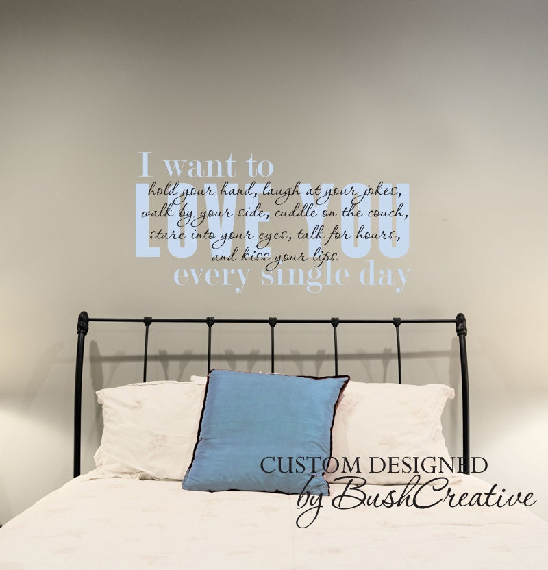 wall decal i love you master bedroom quote 077 44 by