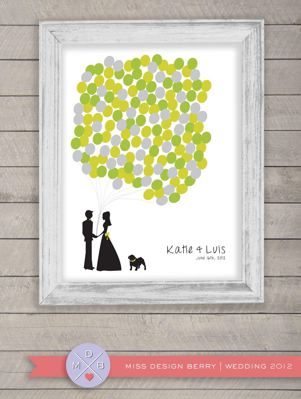 wedding guest book alternative - balloon bunch with bulldog - MDBWeddings