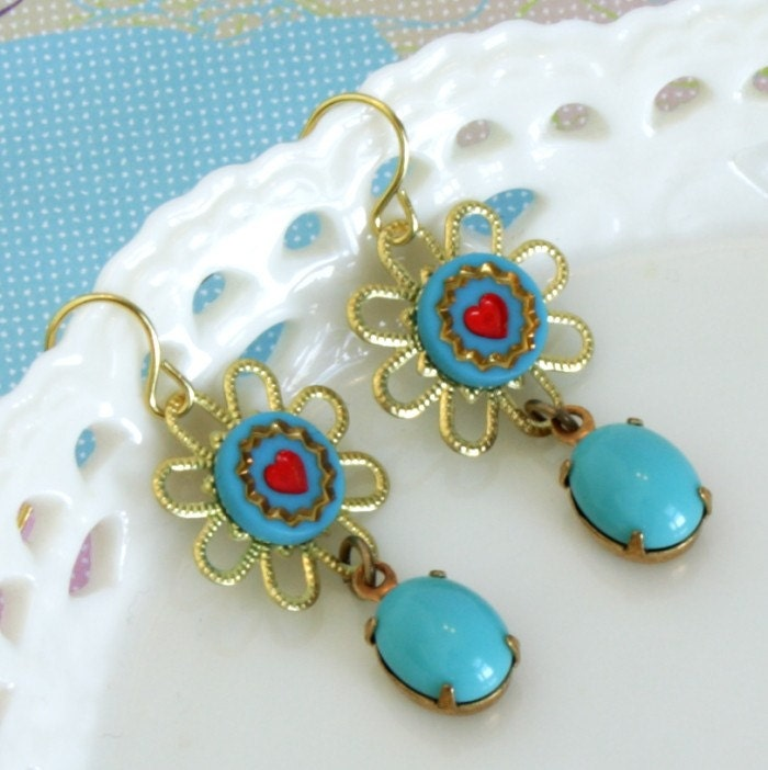 Pretty Turquoise Blue Earrings