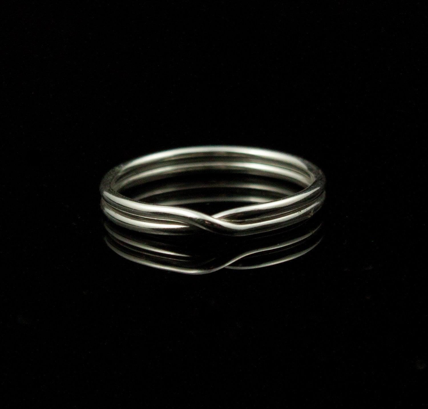 modern infinity ring sterling silver ring by