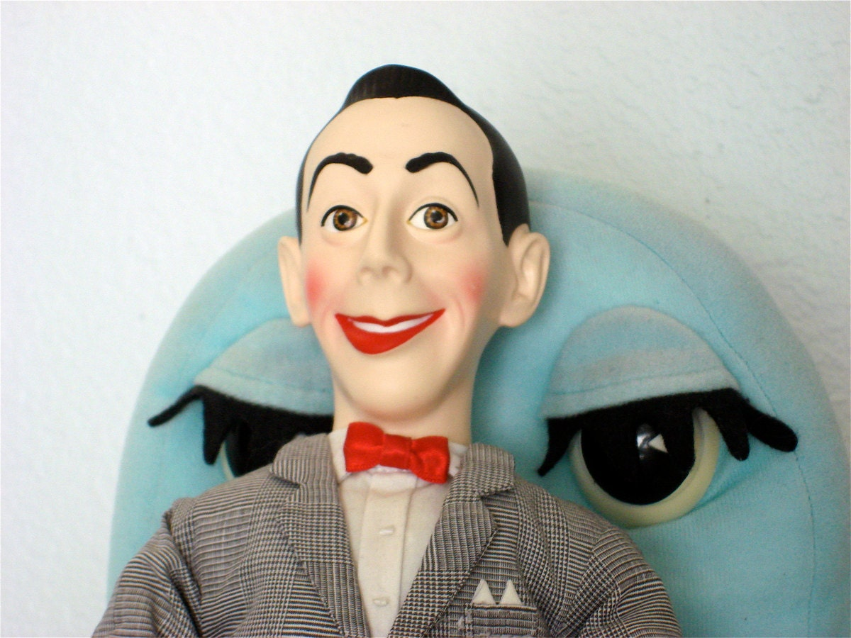 pee wee herman talking doll with chairy by secondhandtheatre. Black Bedroom Furniture Sets. Home Design Ideas
