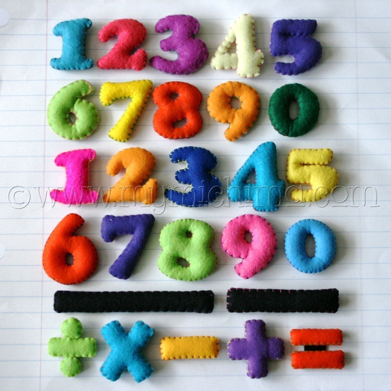 Magnetic Math Set - Stuffed Felt Numbers Magnet Set
