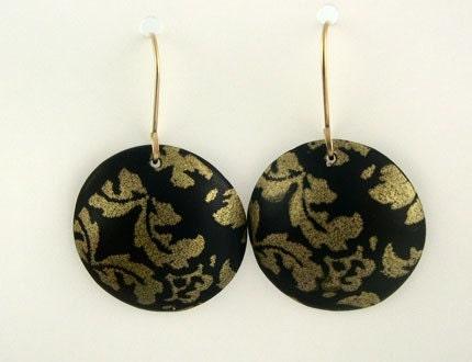 Gold Damask Earrings -BAO ITem of the Week