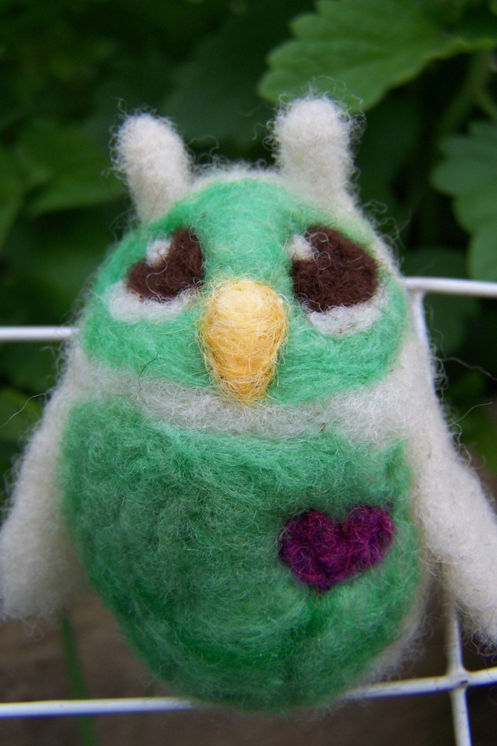 Little Hoot No.38- needle felted owlette