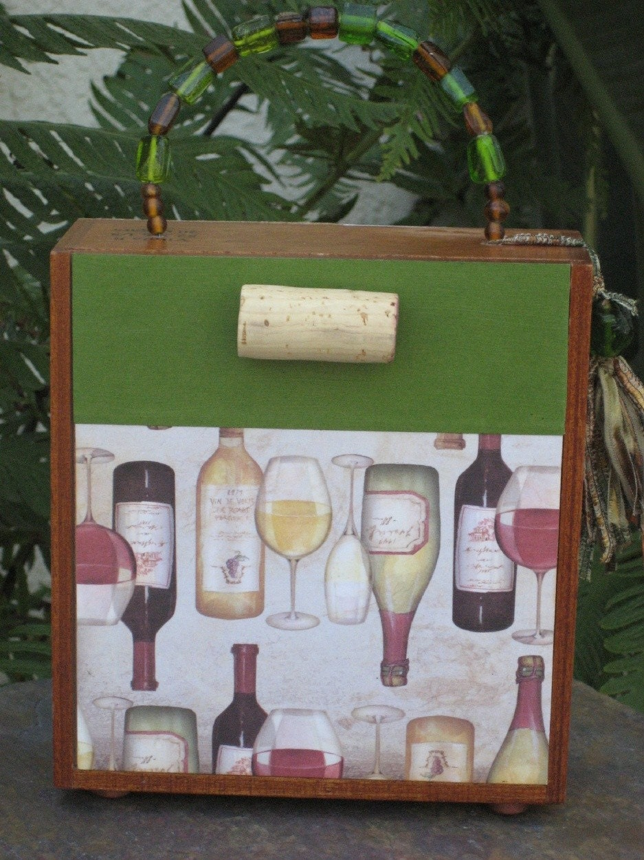 Vineyard Cigar Box Purse