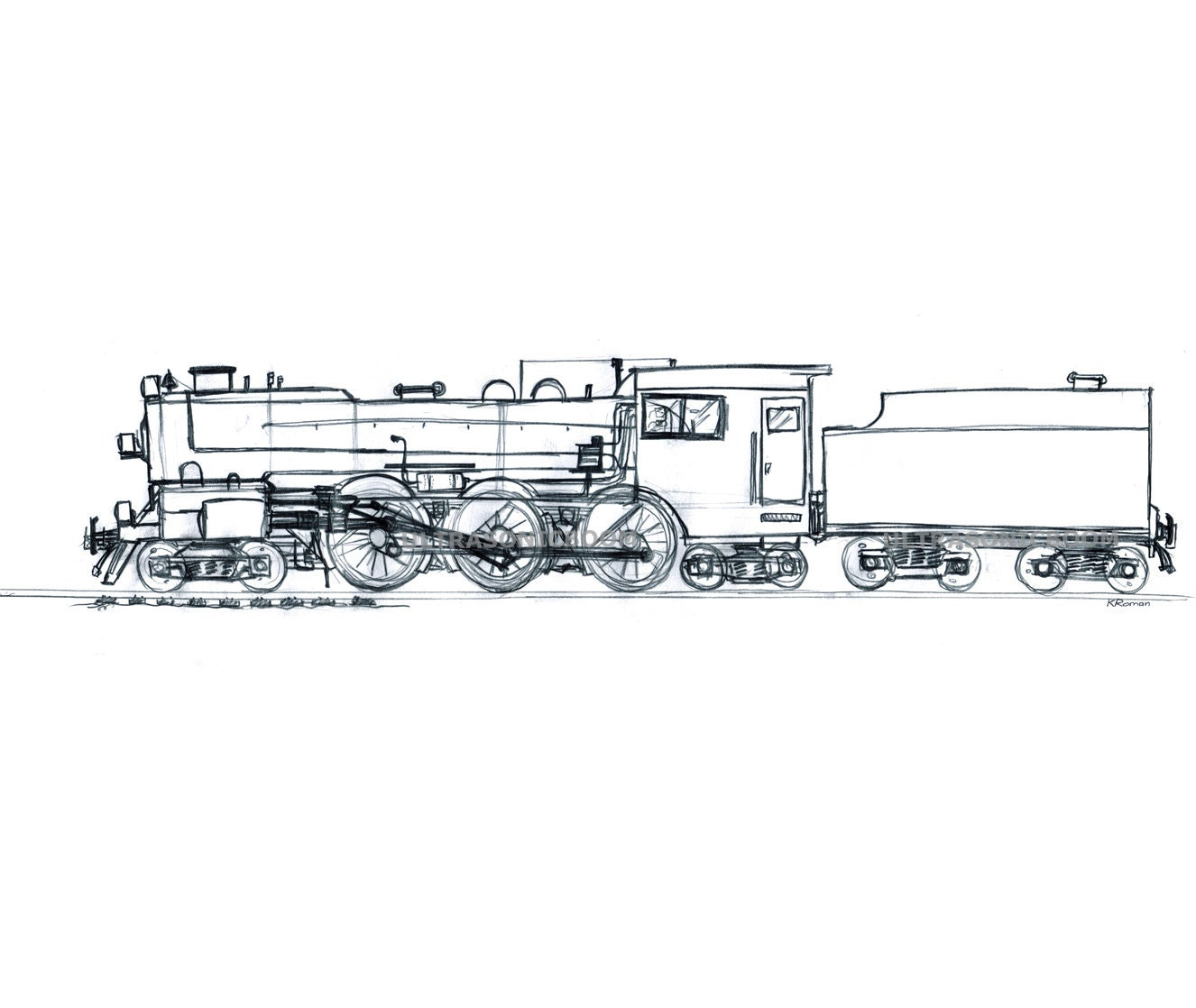Steam Engine Train Drawing | www.imgkid.com - The Image ...