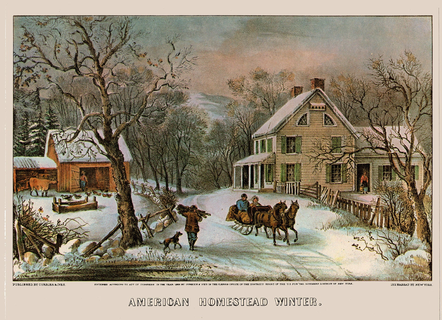 Currier And Ives Four Seasons 4 Reproduction By Atticemporium