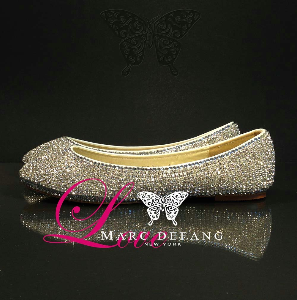Luxury Clear Crystal (Casing) Flats
