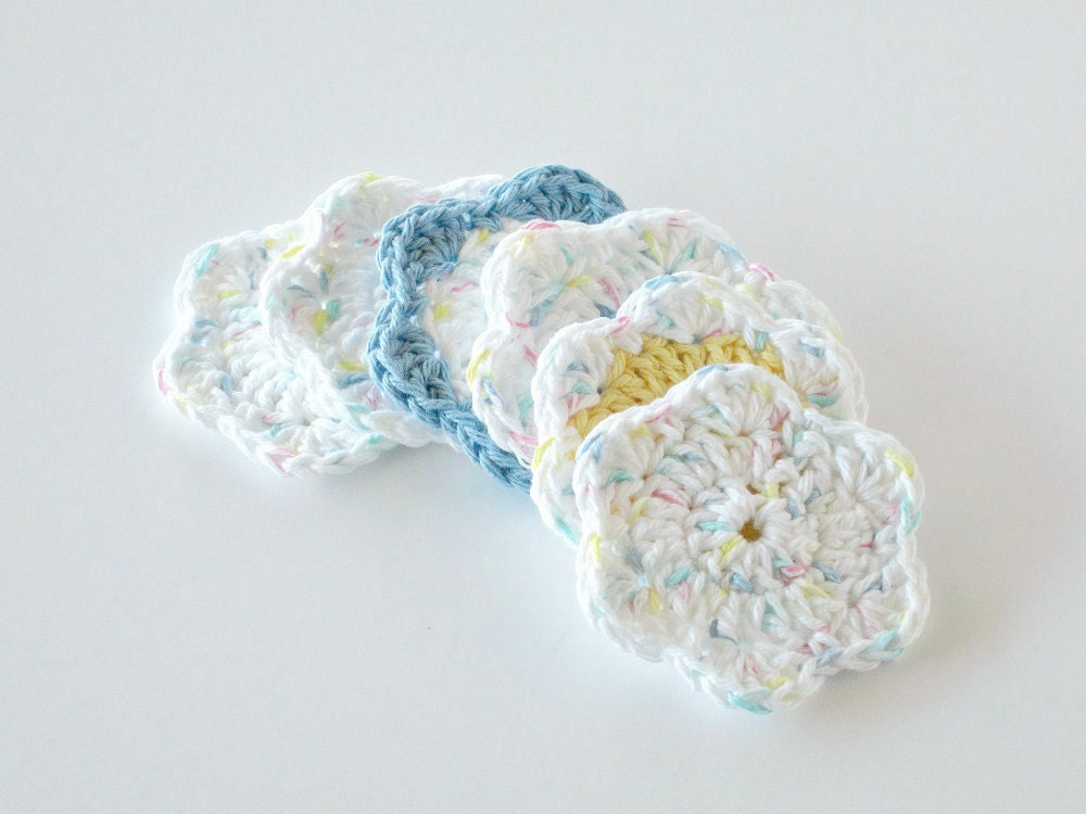 Crochet Face Scrubbies, Facial Cleansing Pads, Washcloth, Makeup Removers - GwensHomemadeGifts