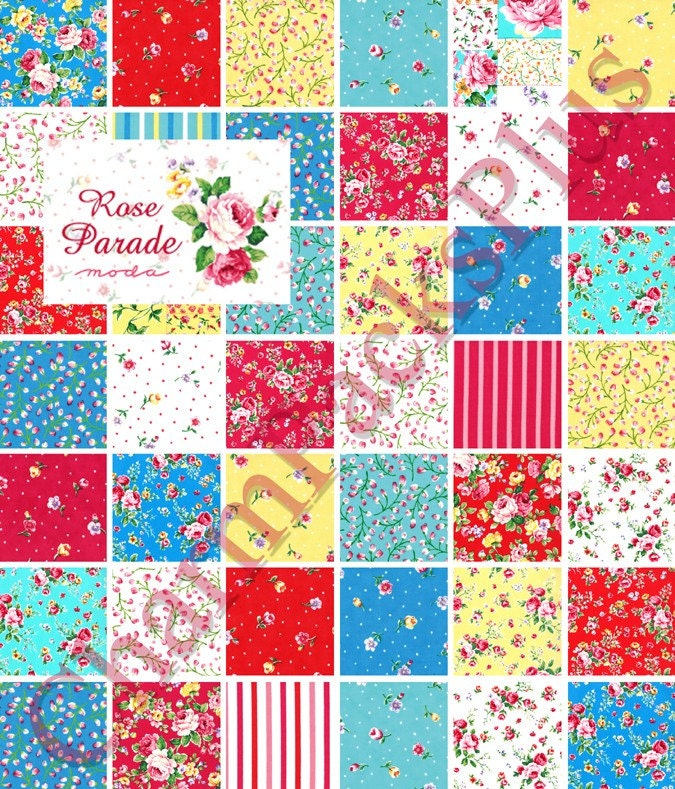 parade moda charm packs quilt fabric squares by