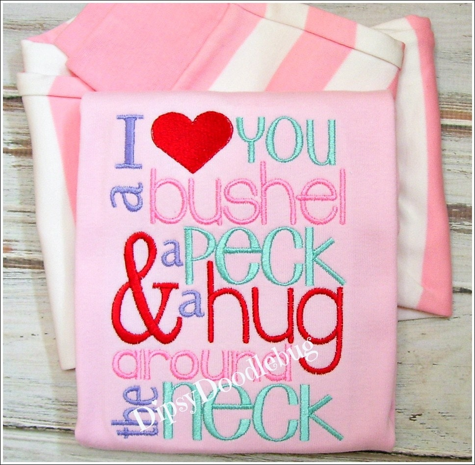 Love you a Bushel and a Peck Pink Pajamas - DipsyDoodlebug