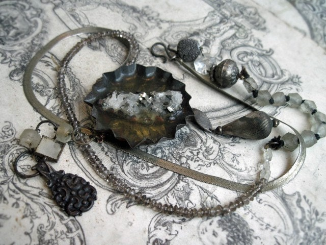 Chain of Being. Pyrite in Quartz in Tart Tin.