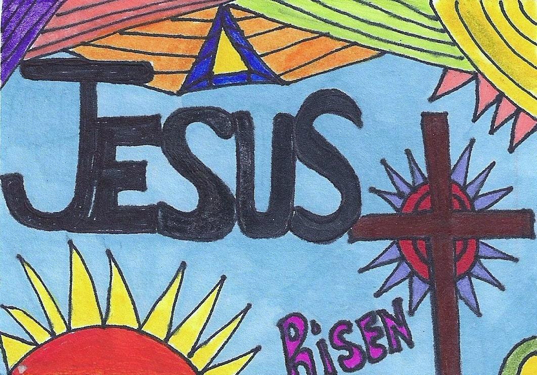 Jesus is Risen Artwork ACEO