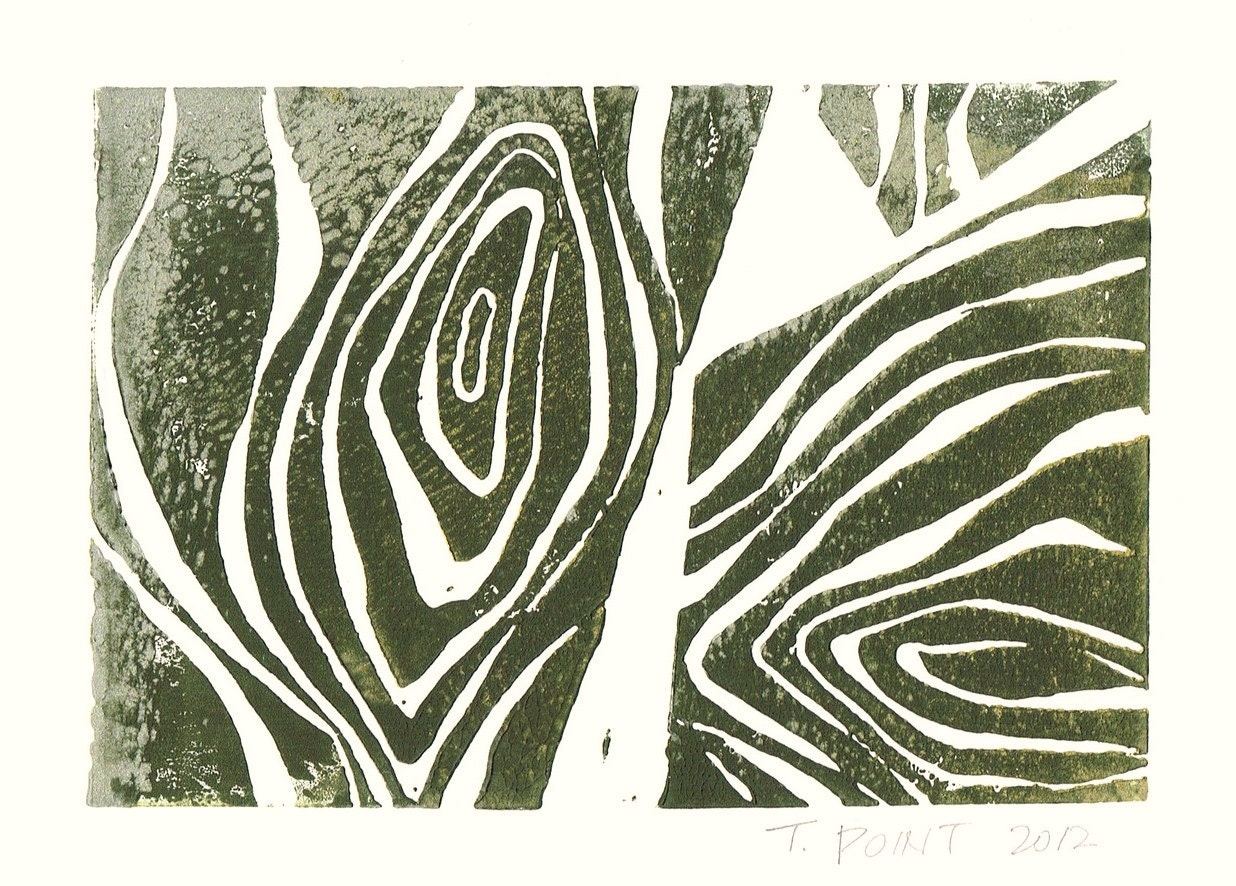 SALE CLEARANCE Abstract Wood Grain Nature Art Block by printwork