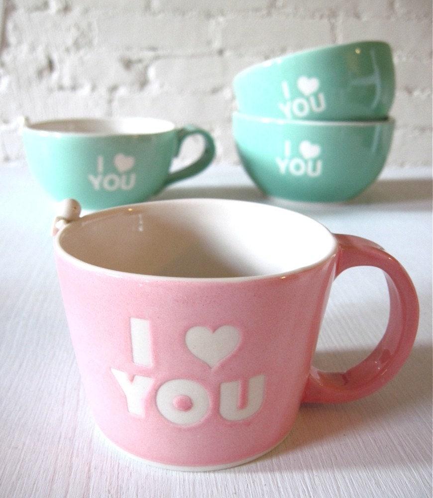 I Love You Angel Pink Mug for Valentine's Day