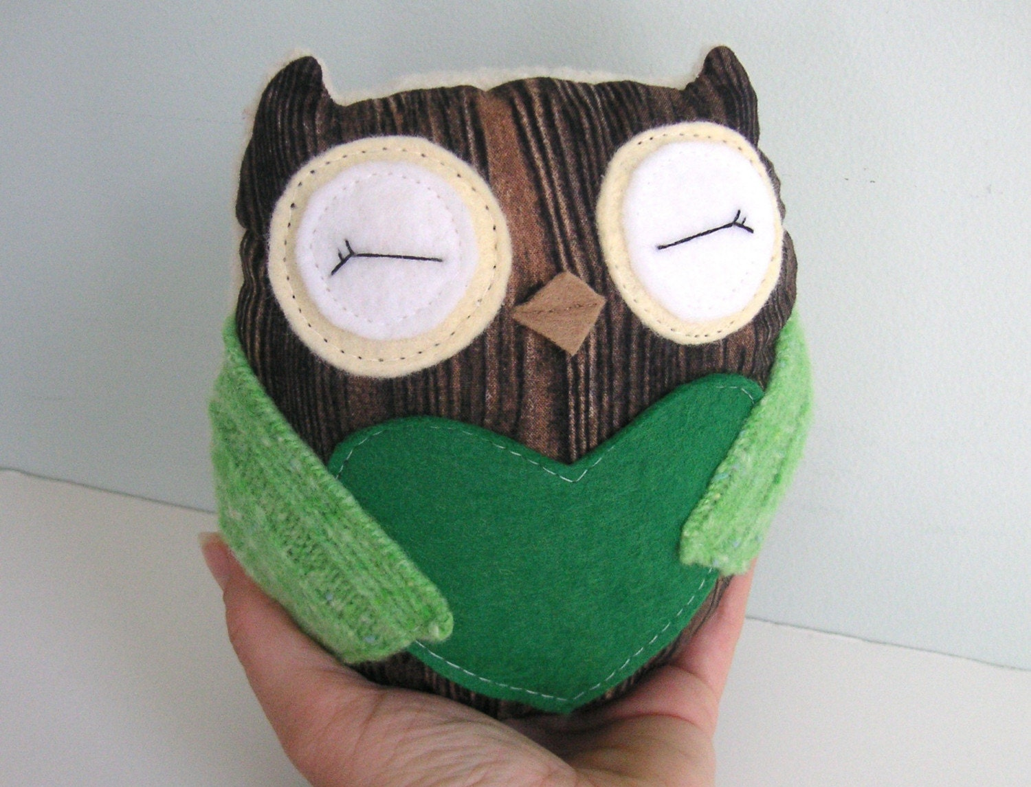 Tiny Wee Hoot Owl - Nature Lovers - Eco Friendly Kids Plush Doll with Secret Pocket