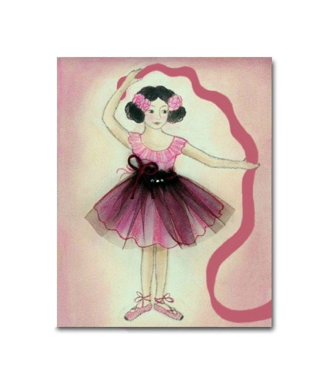 Ballerina nursery ballet kids decor nursery wall by for Ballerina decoration