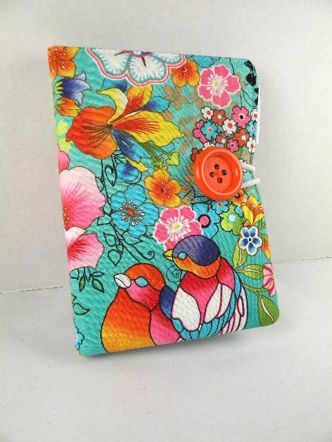Organizer Notepad Clutch Journal ISLE de PARADISO  Paper and Pen are Included