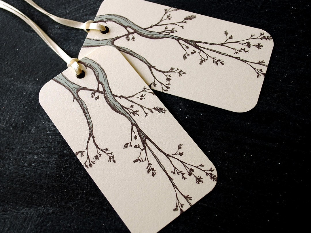 branches, gift tags