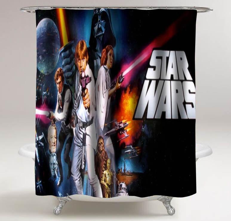 Star wars shower curtains