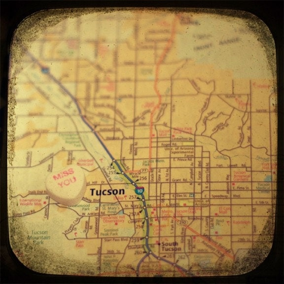 miss you tucson 5x5 ttv photo print - free shipping