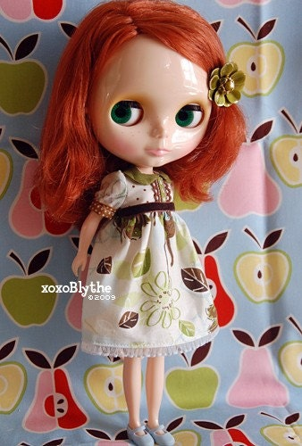 Forest and Stream Babydoll Dress for Blythe