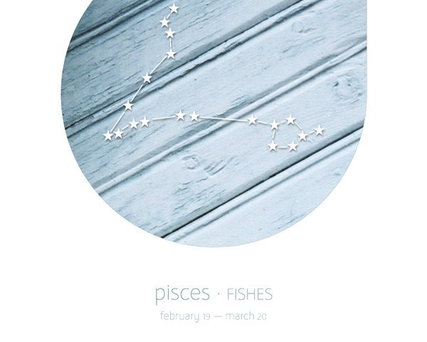 Pisces zodiac sign in blue, constellation on architecture detail photography, 8x10 art print, zodiac art, cyan, light blue, minimal decor - bialakura