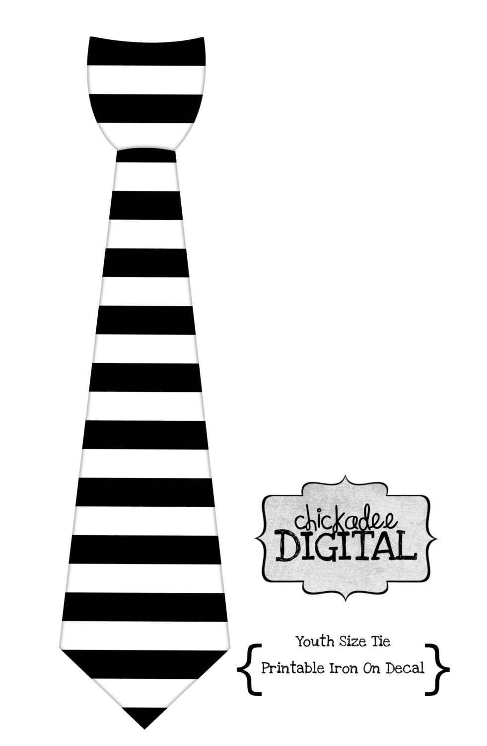 1 printable youth size black and white stripe by chickadeedigital. Black Bedroom Furniture Sets. Home Design Ideas