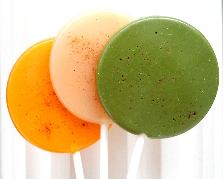 Autumn Assortment Gourmet Lollipops - Apple Spice - Pumpkin Spice - Chai Tea - Set of 7 - BOSSGirlsInc