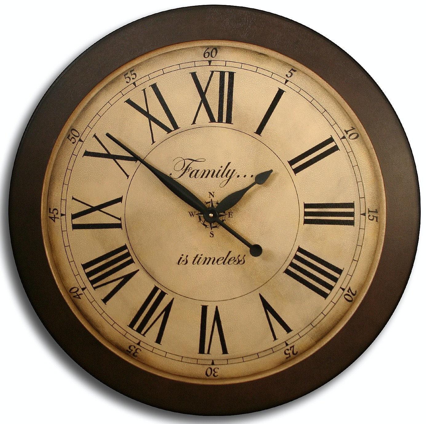 Large Wall Clock 18in Antique Style Loft Tan By Jenniferclocks
