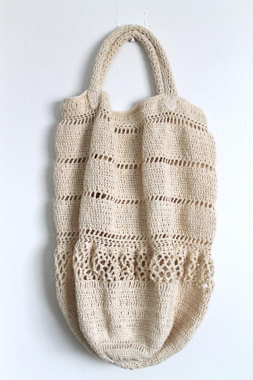 Тотализатор Кружева сумка ручной вязания крючком кошелек мешок мешок мешок Пляж тотализатор крем хлопок