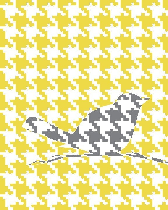 Hooray for Houndstooth (yellow)