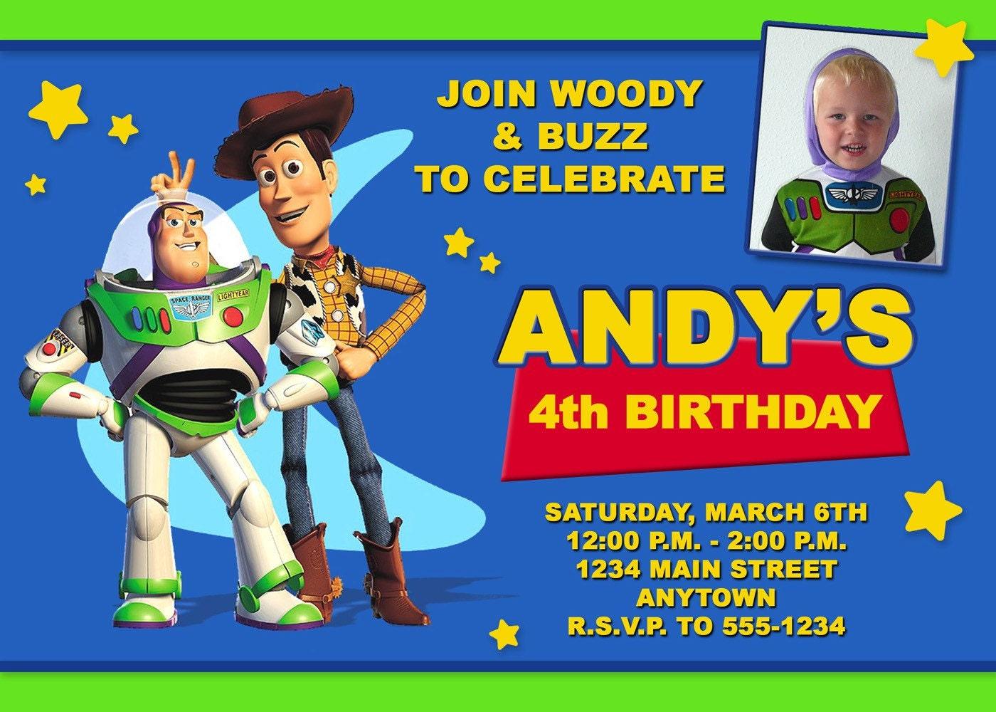 Printiable Toy Story Birthday Invitation Card 36