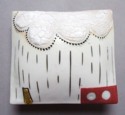 Really far away - small porcelain wall pillow
