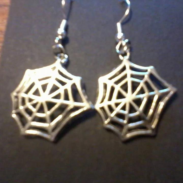 Spiders Web Earrings design Spiders home! Spooky fun earrings halloween ready to ship