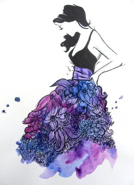 Funky Skirt Color Print