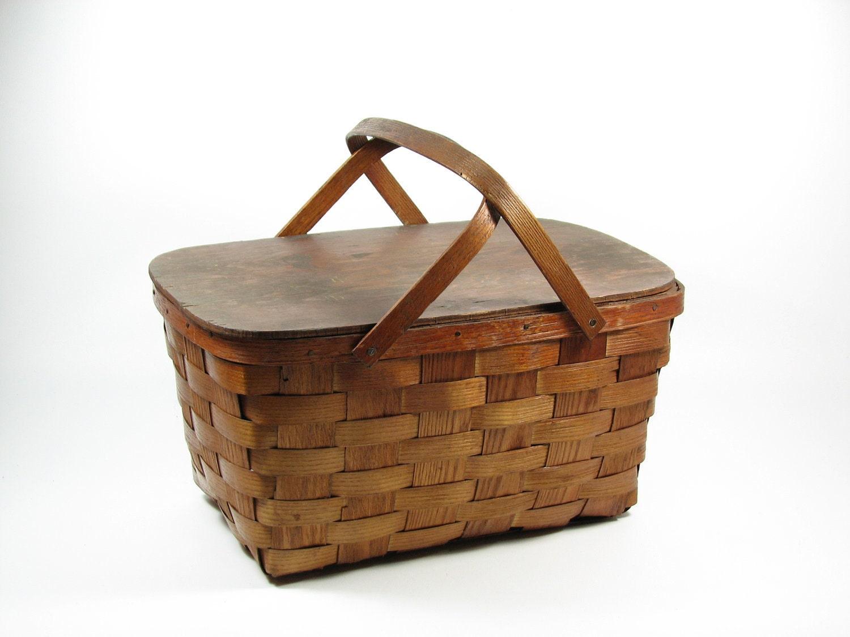 Reserved For Kellysjy 1 Wicker Picnic Basket Amp By Bridgewoodplace