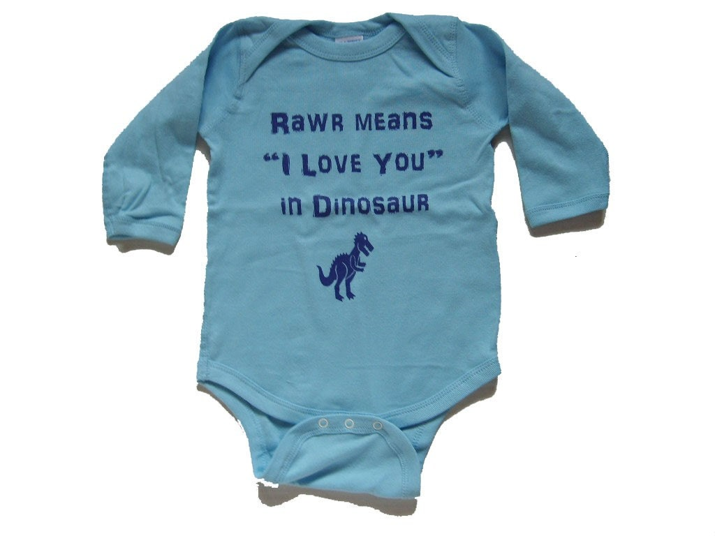 Rawr Means I Love You Onsie