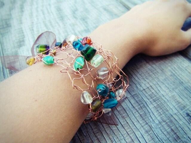 Radiance wire cuff bracelet