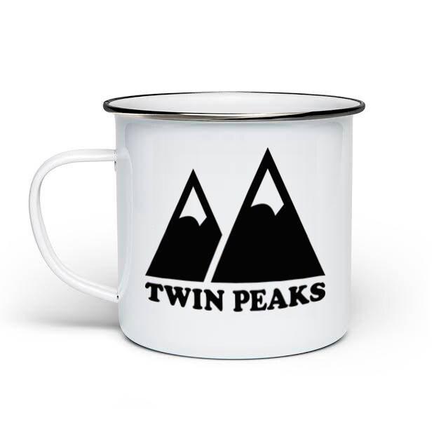 Fathers day Gift Twin Peaks Mug Decal Twin Peaks Sticker Twin Peaks Enamel Bottle Decal Glass Decal Flask Decal LD020