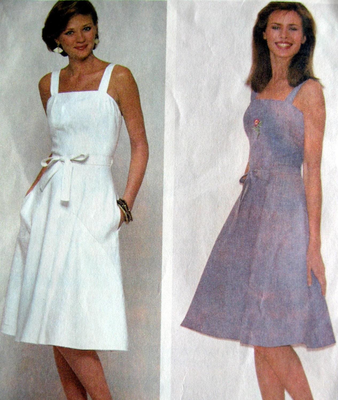 Vintage 1980s McCalls Misses Wrapped Sundress, Size 12, Bust 34
