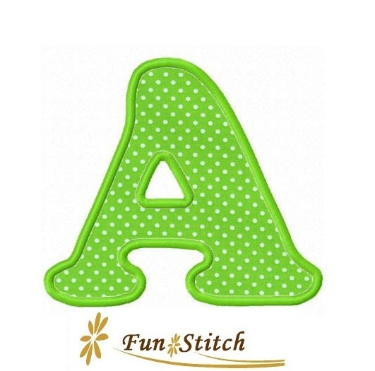 Cb font applique letters machine embroidery designs by