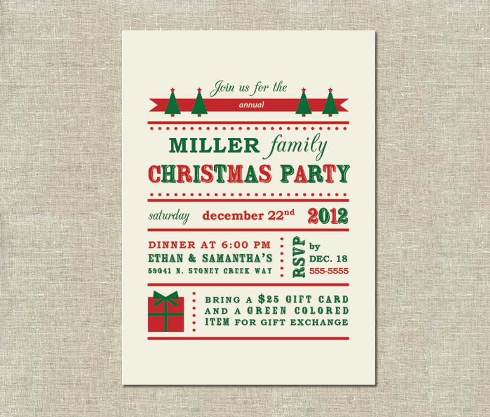 family party invitation wording