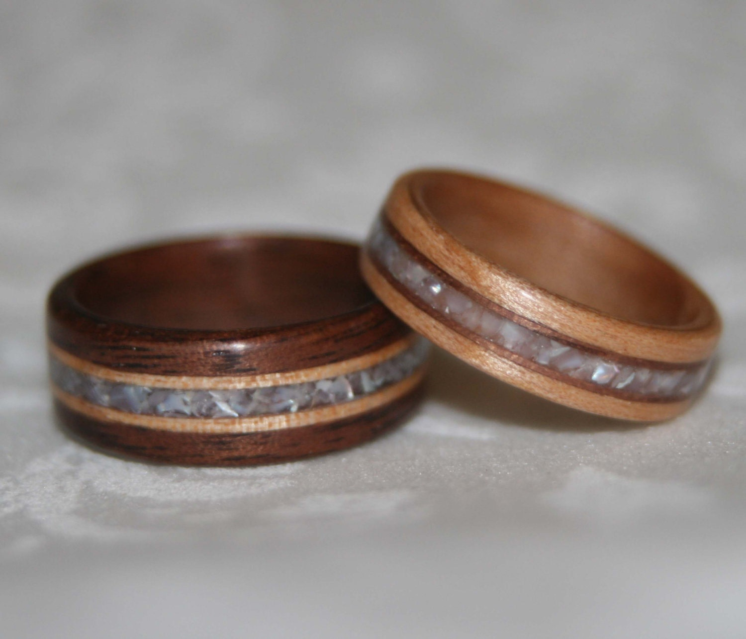 Wooden Wedding Rings: Wood Wedding Rings Using The Custom Woods And By MnMWoodworks