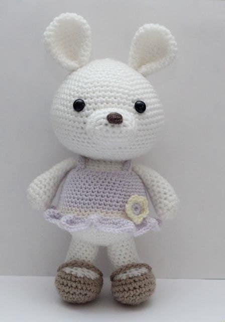 Etsy Amigurumi Bunny : Amigurumi Crochet Pattern Lavender Bunny by littlemuggles ...