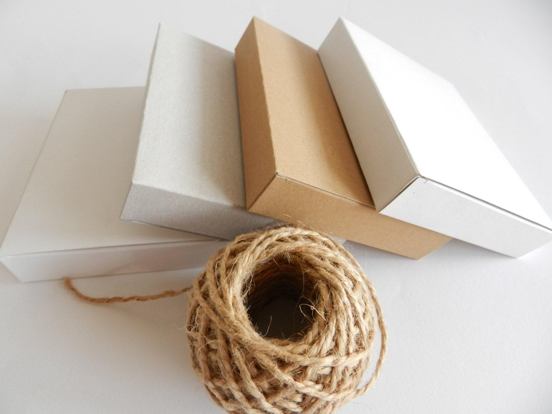 18 Cardstock gift boxes I Kraft, White, Extra White, Gray I Medium size 5.51x4.33x1 - FunkyBoxStudio
