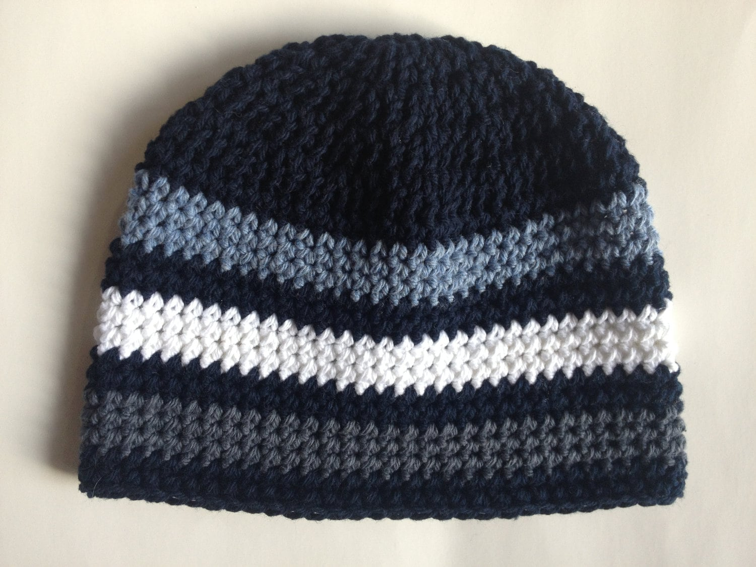 Crochet Beanie Pattern Striped : SALE Striped Beanie Hat Crochet Pattern PDF by BabyBopProps
