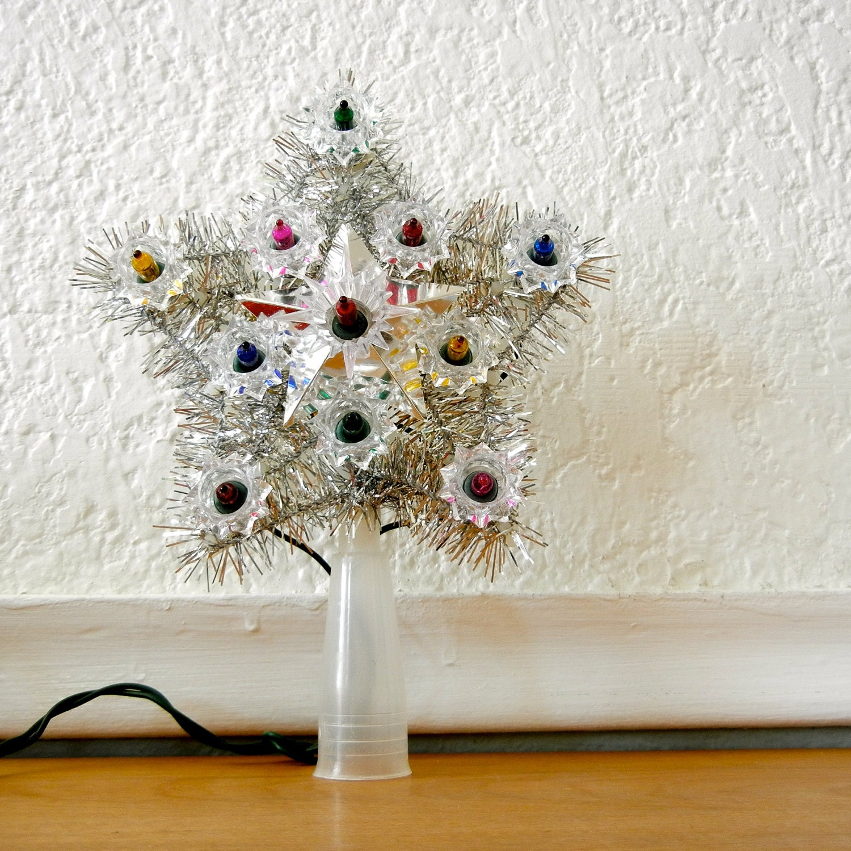 christmas tree topper star light up noma mini by nellsvintagehouse. Black Bedroom Furniture Sets. Home Design Ideas
