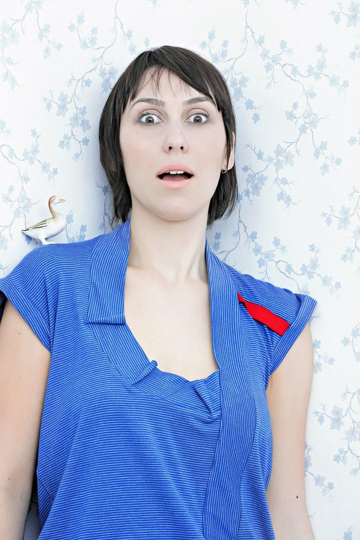 JEN / SUMMER 2010 COLLECTION ..... T-Shirt COLLAR 9 blue ........................ cotton jersey ......................................